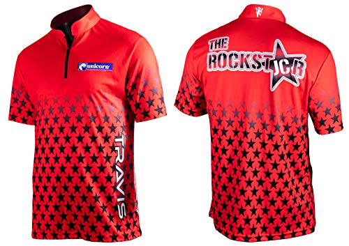 Unicorn Darts Men's Official 2019 Joe Cullen Shirt, Red/Black, X-Large from Unicorn Darts