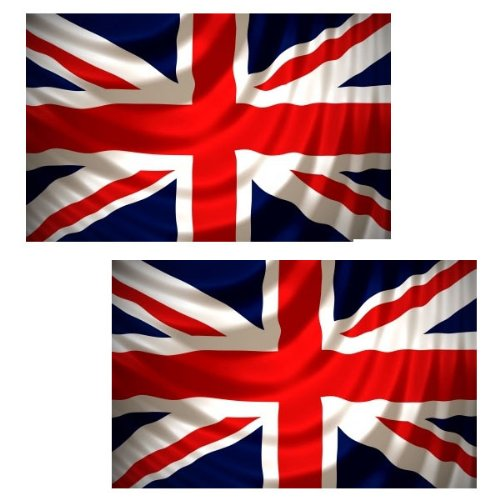 TWIN (2) PACK OF UNION JACK 5FT x 3FT GREAT BRITAIN FLAGS from Union Jack