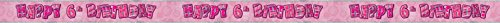 Unique Party 90225 - 12ft Foil Glitz Pink 6th Birthday Banner from Unique Party
