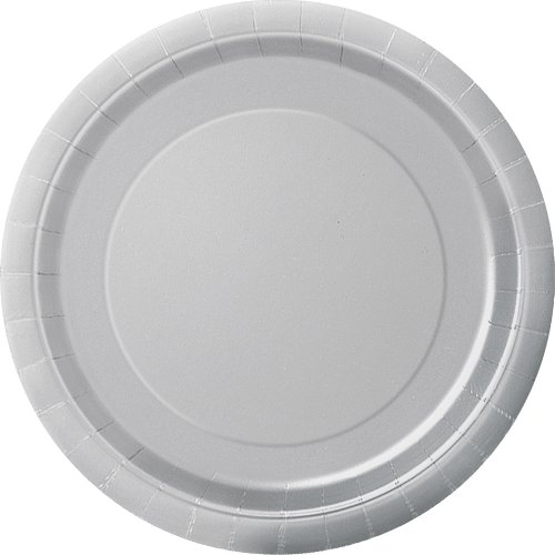 Unique Party 33444 - 18cm Silver Party Plates, Pack of 20 from Unique Party