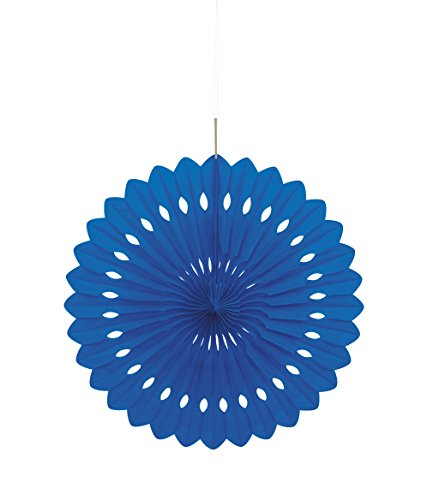 Unique Party 64263 - 40cm Royal Blue Tissue Paper Fan Decoration from Unique Party
