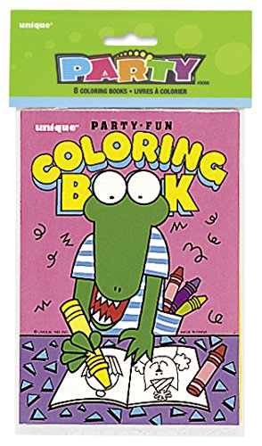 Unique Party 9066 - Colouring Book Party Bag Fillers, Pack of 8 from Unique Party