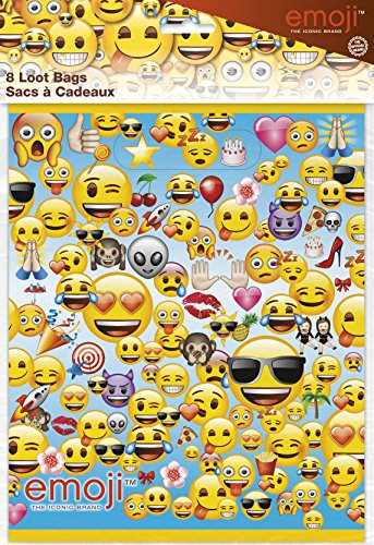 Unique Party 50613 - Emoji Party Bags, Pack of 8 from Unique Party