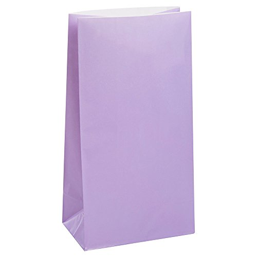 Unique Party 59020 - Lavender Paper Party Bags, Pack of 12 from Unique Party