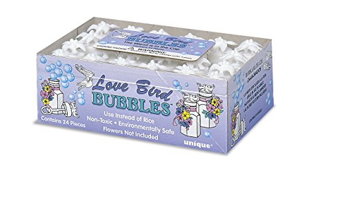 Unique Party 95232 - Love Bird Wedding Bubbles, Pack of 24 from Unique Party
