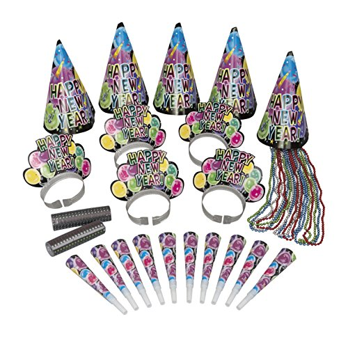 Unique Party 15565 - New Years Eve Celebration Party Kit for 10 from Unique Party