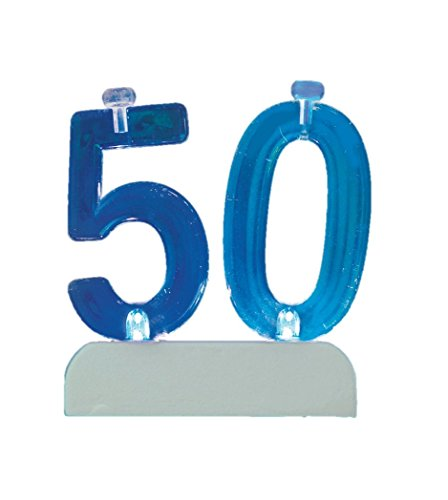 Unique Party 37545 - Colour Changing Flashing Number 50 Birthday Candle Holder with 4 Candles from Unique Party