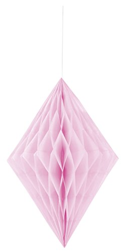 Unique Party 62980 - 35cm Baby Pink Diamond Tissue Paper Decoration from Unique Party