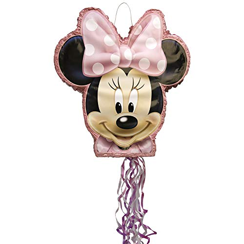 Unique Party 66319 - Disney Minnie Mouse Pinata, Shaped Pull String from Unique Party