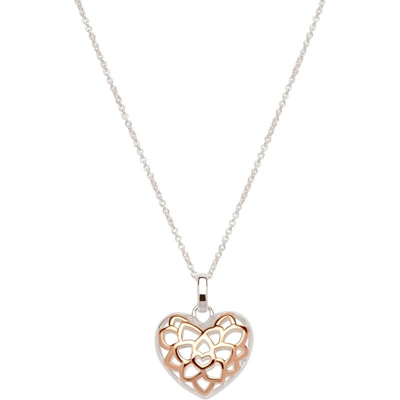 Unique & Co Ladies Sterling Silver Filigree Heart Necklace MK-607 from Unique & Co