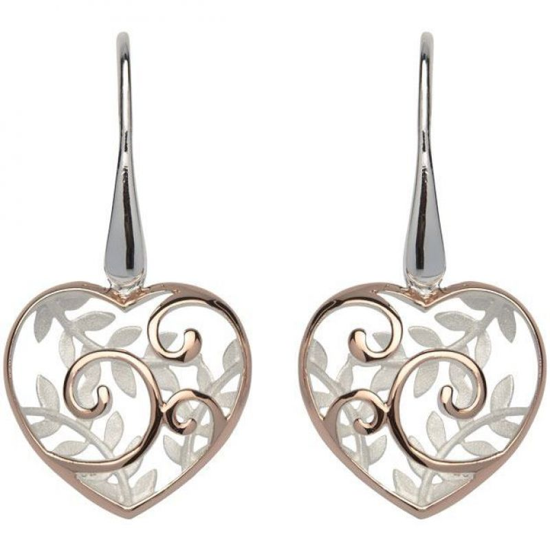 Ladies Unique & Co Sterling Silver Heart Earrings from Unique & Co