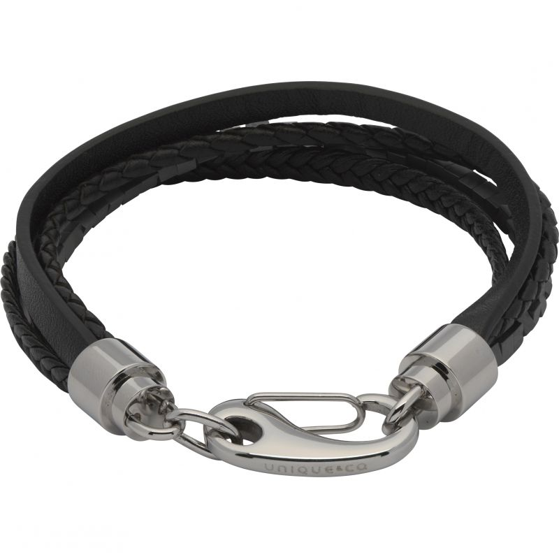 Mens Unique & Co Stainless Steel Layered Effect Bracelet from Unique & Co