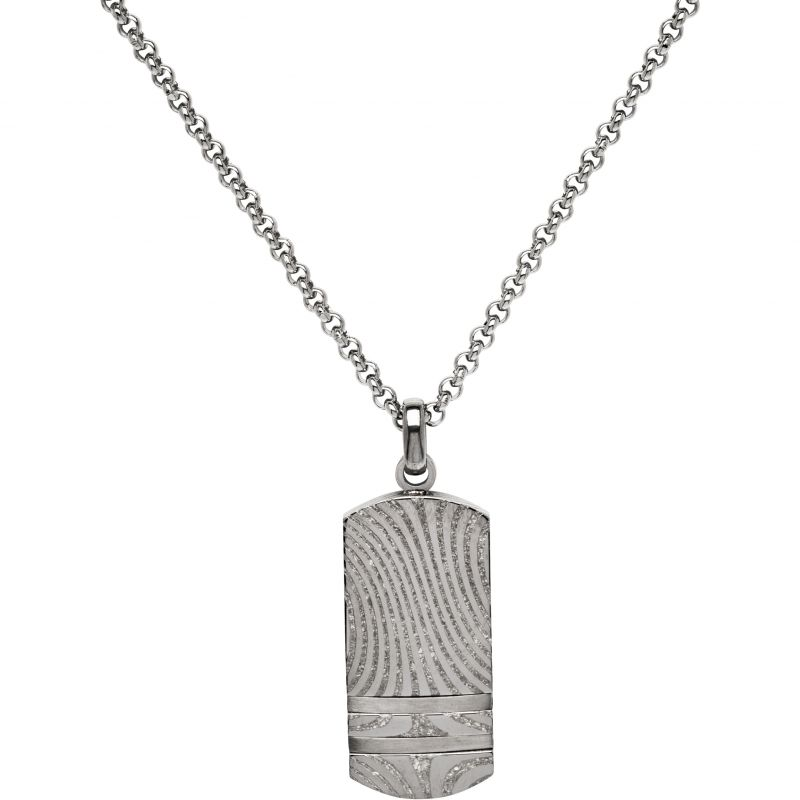 Mens Unique & Co Stainless Steel Tag Necklace from Unique & Co