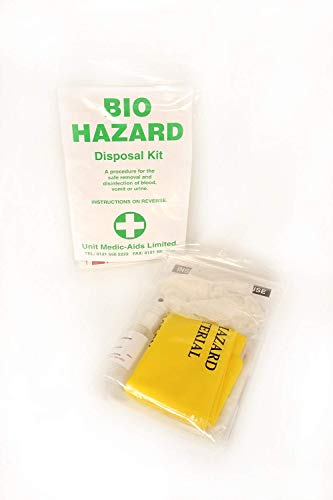 Body Fluid Disposal Kit Single Blood Vomit And Urine Cleaning First Aid Kit Bag from Unit Medic Aids
