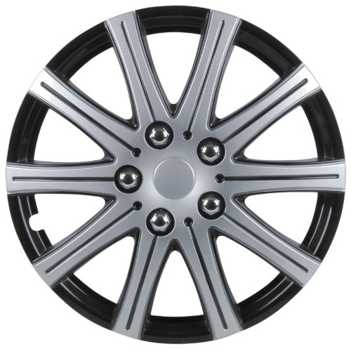 Unitec 75171 Adelaide 4-Set Premium Wheel Trim Black / Silver 38.1 cm 15 inches - Set of 4 from Unitec