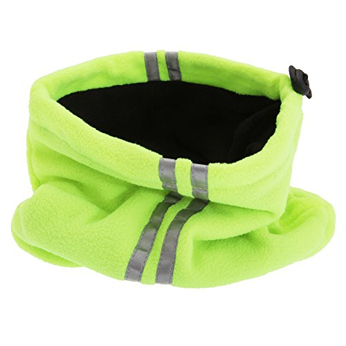 Unisex Hi Vis Fleece Neckwarmer Snood With 3M Scotchlite Banding (One Size) (Neon Yellow) from Universal Textiles