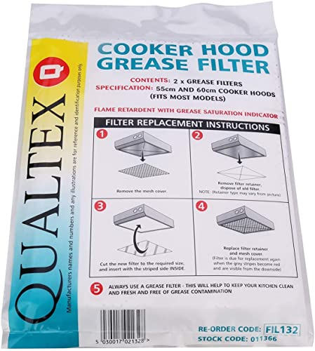 Universal Cooker Hood Grease Filters - Pack of 2 from Qualtex