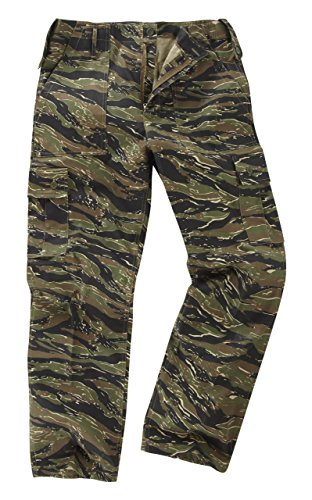 6 Pocket Camouflage Combat Cargo Trousers - Tiger Stripe (28) from Unknown