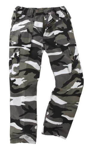 6 Pocket Camouflage Combat Cargo Trousers - Urban (34) from Generic