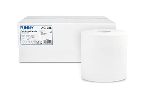 Funny Paper Cleaning Towels 2-Ply Brilliant White Approximately 26 cm [2 Rolls of 1000 Sheets] from Unknown