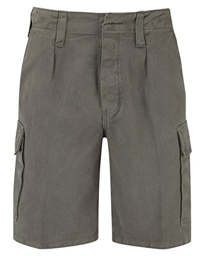 German Moleskin Shorts - Olive/Grey (L) from Unknown