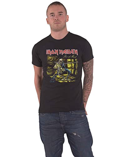 Official Iron Maiden Piece 2 of Mind Graphic T-Shirt Rock Metal Band Merch Black from AWDIP