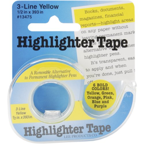 Lee Products Highlighter Tape, Multi-Colour, 1.6 x 8.1 x 8.58 cm from Lee