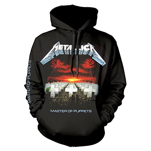 Metallica Master of Puppets Hooded Sweatshirt Black XL from Metallica