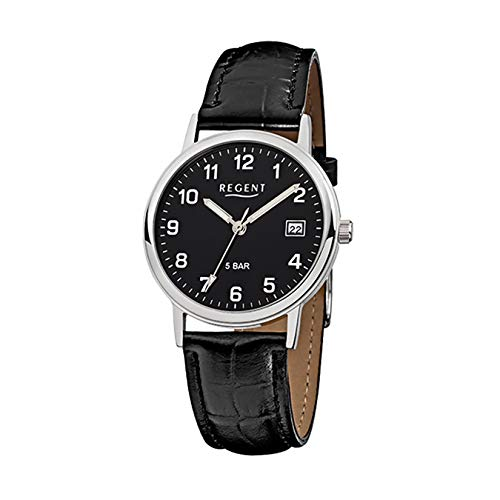Regent Mens Watch Black Analog F-792 Leather Bracelet URF792 an Offer Made by IMPPAC from Unknown
