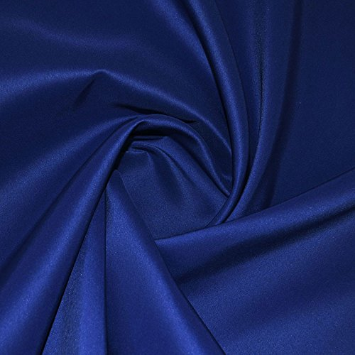 Royal Blue Duchess Satin Fabric from Unknown