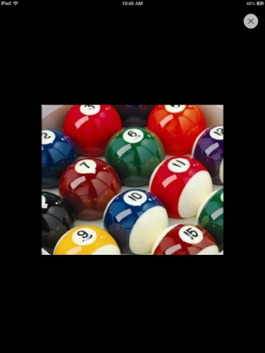 Spots & Stripes Pub Pool Table Balls; 2 inch , with 1 7/8 cue ball from Unknown