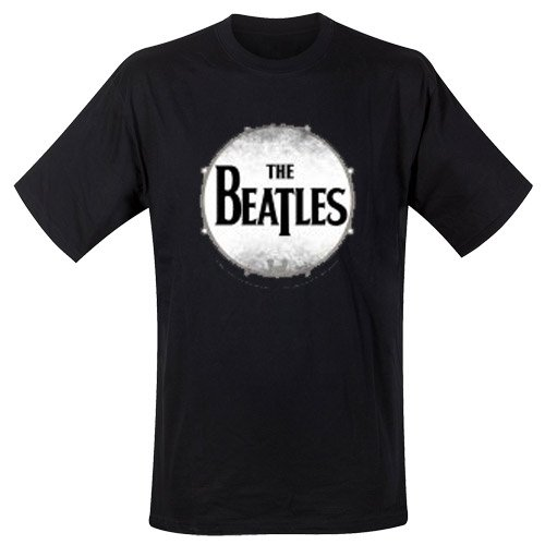 The Beatles Men's Drumskin Short Sleeve T-Shirt, Black, XX-Large from Unknown