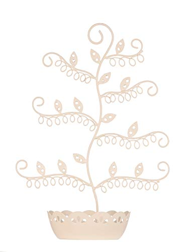 Tree-shaped earring, jewellery holder, stand in cream colour from Unknown
