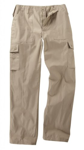 Youths/Kids Military Combat Cargo Trousers - Beige (3-4 Years, Beige) from Unknown