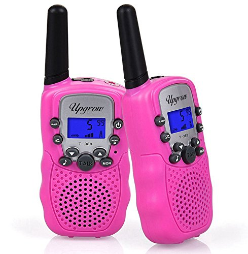 Upgrow Walkie Talkies 8 Channel 2 Way Radio Kids Toys Wireless 0.5W PMR446 Long Distance Range Walkie Talkie for Field Survival Biking and Hiking (T388-Pink) from Upgrow