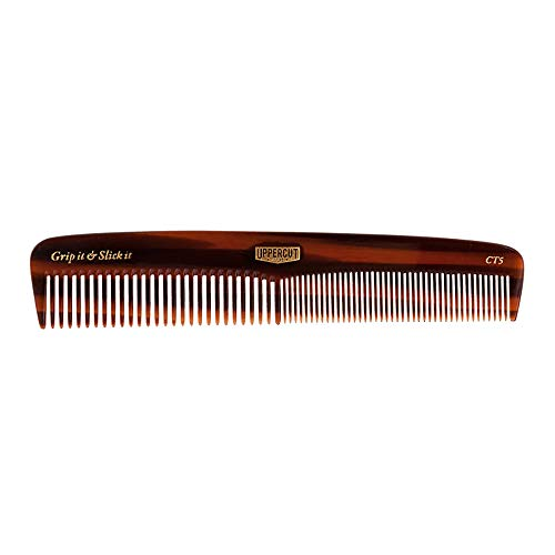 Uppercut Deluxe CT5 Tortoise Shell Comb - Easy to Use, Pocket Sized - Grip It & Slick It from Uppercut Deluxe