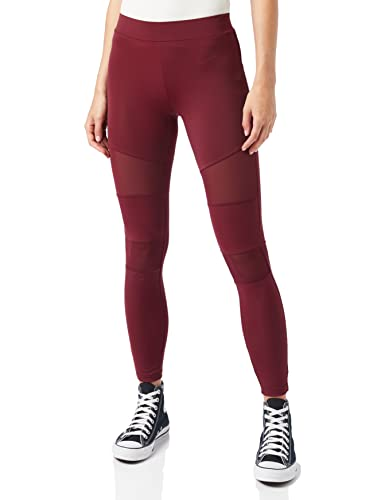 2154ed65cd4d2 Urban Classic Women's Ladies Tech Mesh Leggings, Red (Port 01157), S from