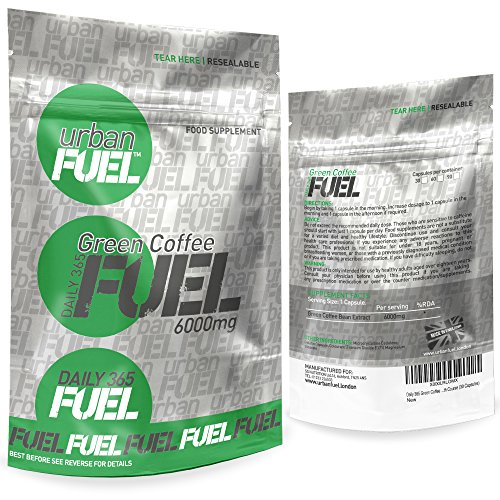 a7043ad682e2 Green Coffee Bean Extract Max Strength 6000mg By Urban Fuel - Pure Green  Coffee Bean Extract