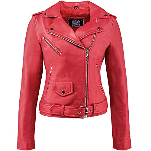 Classic Perfecto Ladies, Red, M from Urban Leather