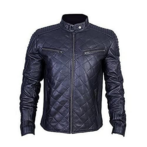 Urban Leather UR-54 956 Men's Leather Motorcycle Jacket, Black, 3XL from Urban Leather