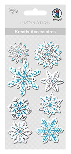 Ursus 564000212 Paper Sticker – Stickers (Blue, White 8pièce (S), Blue, White, Paper, Christmas, Boys/Girls 8 Piece (S)) from Ursus