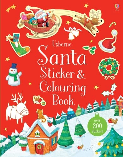 Santa Sticker and Colouring Book from Usborne Publishing Ltd