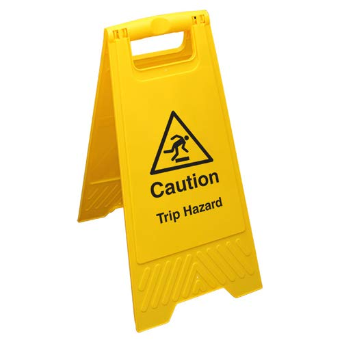 VSafety Caution Trip Hazard - Yellow Floor Sign from V Safety