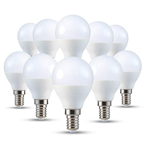 V-TAC set of 10, E14, P45, 4W warm white 2700K watts, 230 volts, 320 lm, 180 ° beam angle, equivalent 30W from v-tac