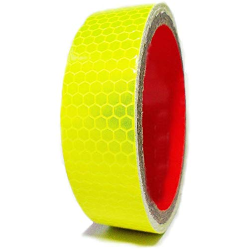 VE Tapes Waterproof High Quality High Intensity Yellow Self-adhesive Reflective Tape Vinyl Bike Tape 25mm x 2.5M from VE Tapes