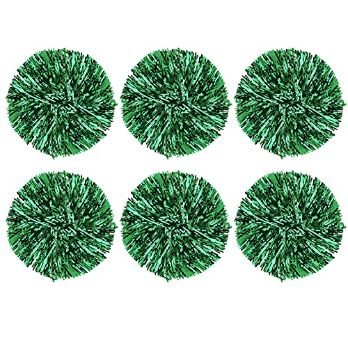 6Pcs Cheerleading Pom Poms Cheerleader Sports Party Dance Accessory Hand Flowers Pompoms Cheers -7 Colors to Choose ( Color : Green ) from VGEBY