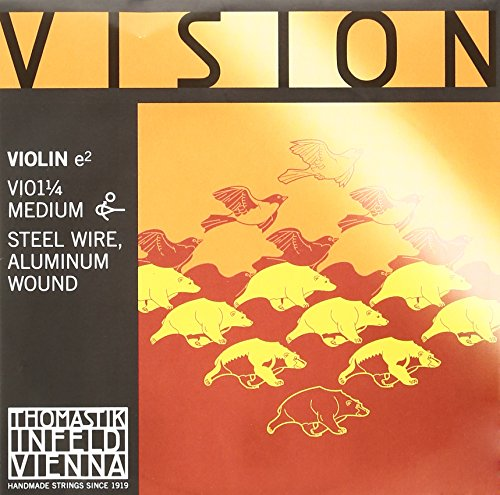 Thomastik Single string for Violin 1/4 Vision - E-string steel, aluminium wound, medium, ball end from Thomastik