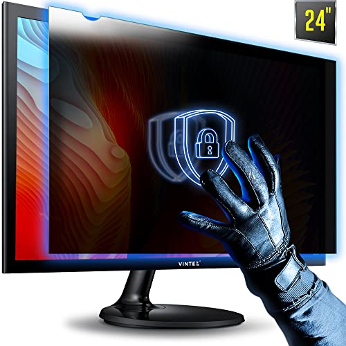 24 Inch - 16:9 Aspect Ratio (Diagonally Measured) Premium - Computer Privacy Screen - Filter - Anti-Scratch, Anti-Glare Protector for Widescreen Monitors from VINTEZ
