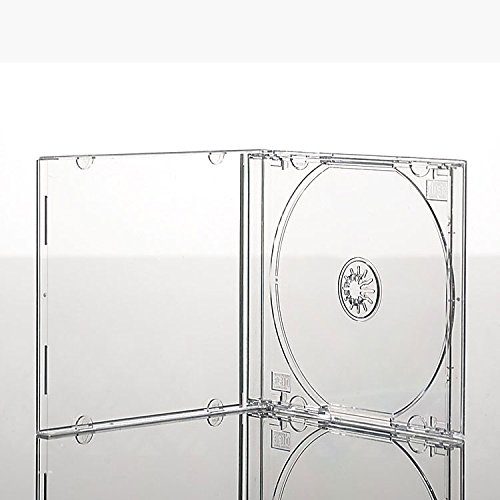Vision Media® 25 x Premium Grade Single CD Jewel Cases Clear Tray (10mm) from VISION MEDIA