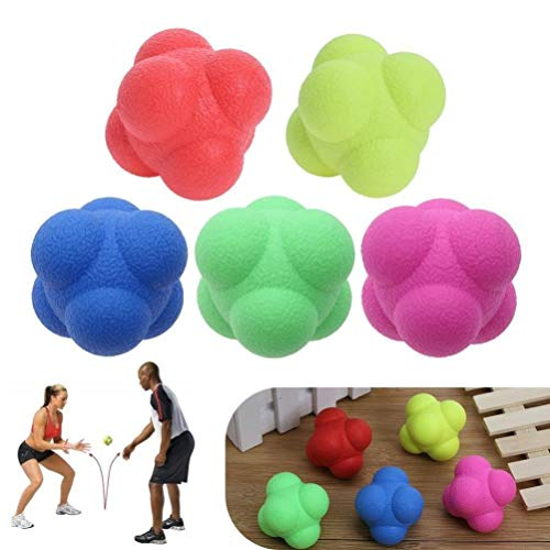 VORCOOL 6 PCS Reaction Bounce Ball Agility Reaction Reflex Ball for Improving Agility Reflexes and Hand-eye Coordination Skills from VORCOOL